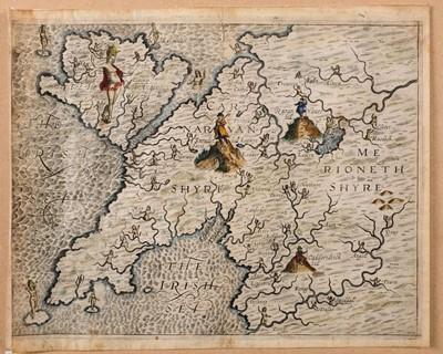 Lot 27-Drayton (Michael), Two untitled allegorical maps, circa 1622
