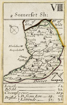 Lot 81 - Playing card maps. Morden (Robert), Somerset & Durham, circa 1676