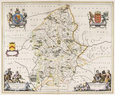 Lot 61 - Midland counties. Blaeu (Johannes), Staffordiensis comitatus vulgo Stafford Shire, circa 1660