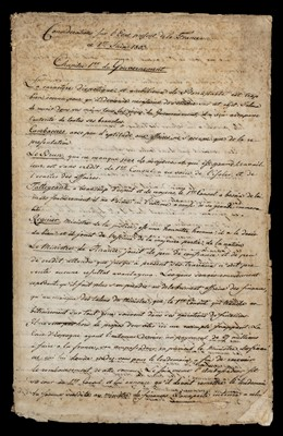 Lot 723 - France under Napoleon. Manuscript report in French, 1803