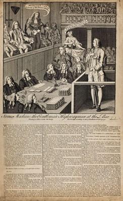 Lot 520 - Highwayman Trial. Illustration, 1750