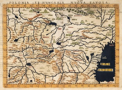 Lot 95 - Poland. Meletius (Josephus, publisher), Polonia et Hungaria nuova tavola, Venice, circa 1562