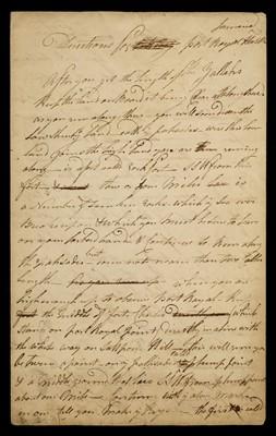 Lot 12-West Indies. Manuscript navigational instructions for entering Port Royal, circa 1780
