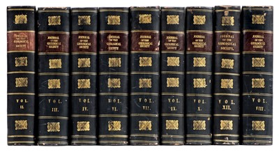 Lot 196 - Geological Society of London. Quarterly Journal, Volumes II-IV, VI-X & XII, 1846-1856