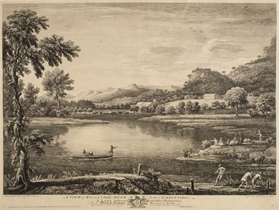 Lot 13-Bellers (William, active 1734-1773). A View of Derwent-Water from Vicars Island, 1774