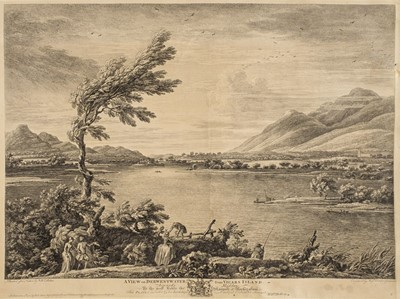 Lot 13 - Bellers (William, active 1734-1773). A View of Derwent-Water from Vicars Island, 1774