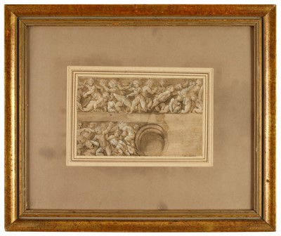 Lot 370-Pordenone (Giovanni Antonio de' Sacchis, 1483/4-1539). Design for a Frieze