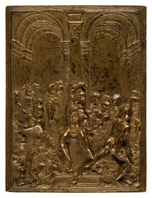 Lot 353-Moderno, (1467-1528, after). The Flagellation of Christ, 2nd quarter 19th century