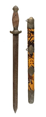 Lot 9-Sword. A 19th century Chinese short sword