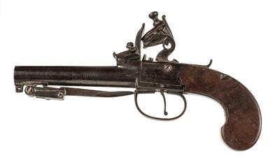 Lot 5 - Pistol. An early 19th century flintlock travelling pistoln by Mothers Head