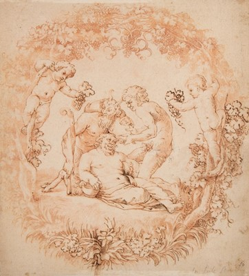 Lot 354-Carracci (Annibale, 1560-1609). The Drunken Silenus, circa 1595-1602