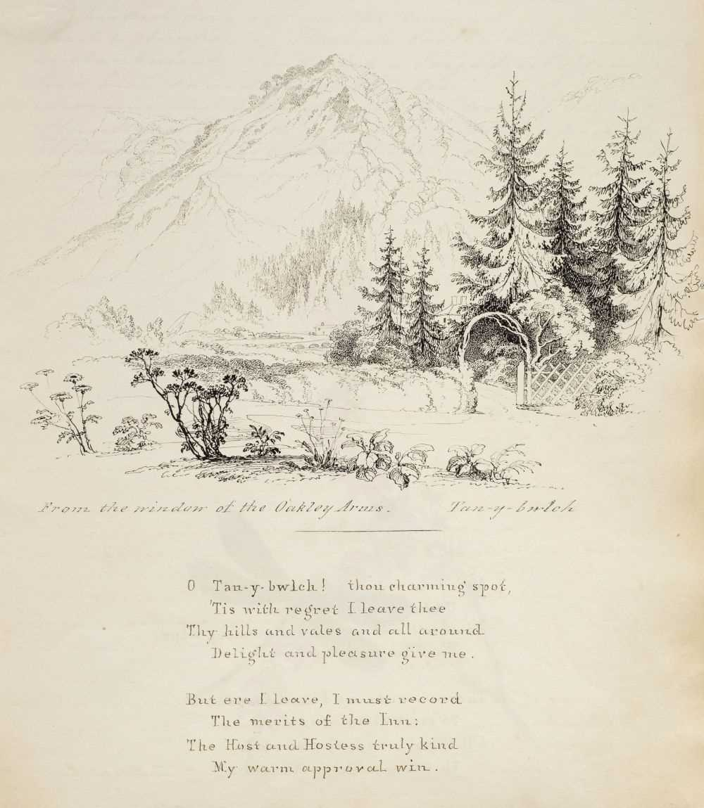 Lot 18 - North Wales. An illustrated manuscript journal, by Isabella Nicholson, 1837