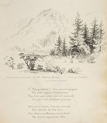 Lot 18-North Wales. An illustrated manuscript journal, by Isabella Nicholson, 1837
