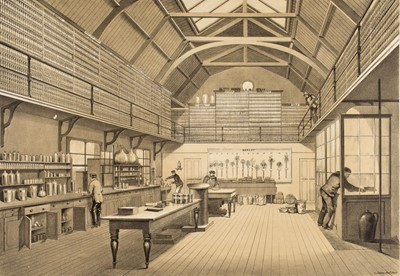 Lot 88 - Rothamsted Experimental Station. Drawings of the Lawes Testimonial Library [2 copies], 1860