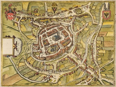 Lot 95 - Braun (Georg & Hogenberg Franz). Die Stat Swybuschin in nider Schlesien, 1598