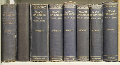 Lot 28-Corbett (Sir Julian S.). Naval Operations, History of the Great War, 1920-31, & others