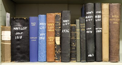 Lot 36-Navy Lists. The Navy List, for 1814, & 13 others
