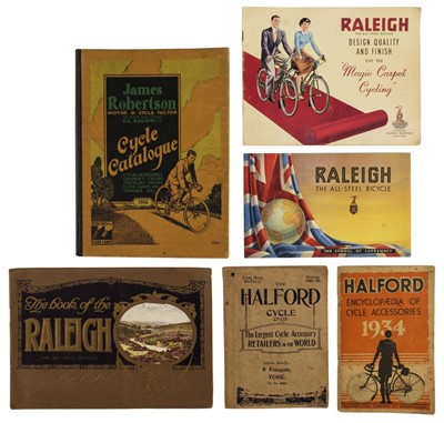 Lot 51 - Cycling. A collection of cycling reference and trade catalogues, early to mid 20th century