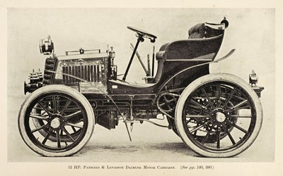 Lot 46-Beaumont (W. Worby). Motor Vehicles and Motors, 1900, & 1 other