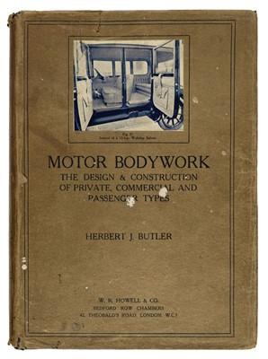 Lot 49 - Butler (Herbert J.). Motor Bodywork, 1924