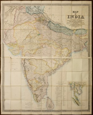 Lot 11-Stanford (Edward, publisher). Map of India, 1857
