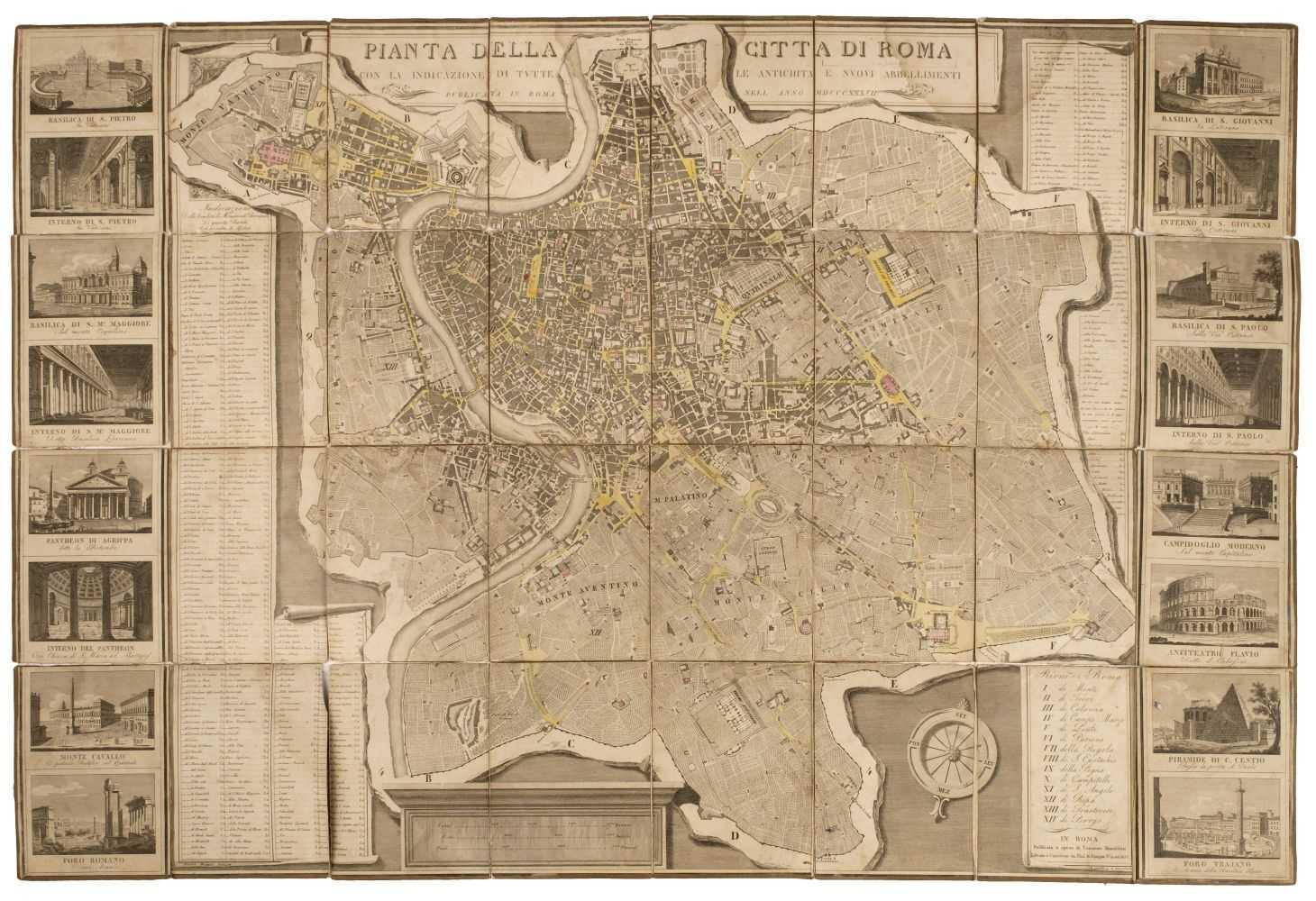 Lot 9 - Rome. Pianta della citta di Roma, 1837 & 1 other