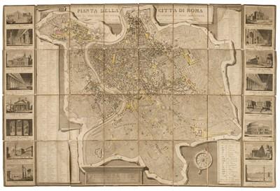 Lot 9-Rome. Pianta della citta di Roma, 1837 & 1 other