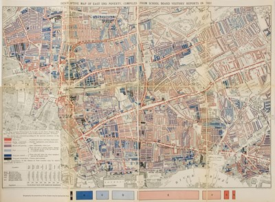 Lot 94 - Booth (Charles). Descriptive Map of East End Poverty, 1st edition, 1889
