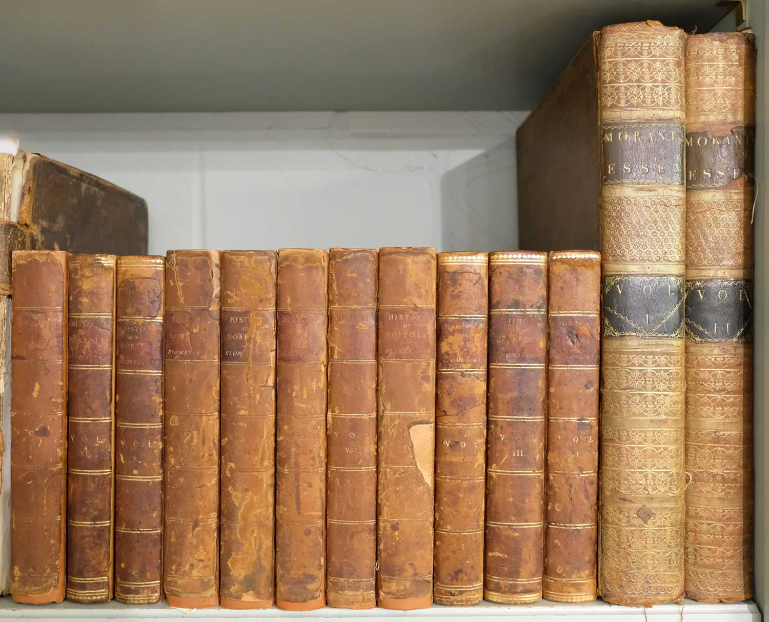 Lot 14 - Blomefield (Francis). Topographical History of the County of Norfolk, 11 vols., 1805-10