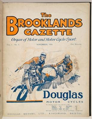 Lot 48 - Brooklands Gazette. Organ of Motor and Motor Cycle Sport, 1924-5