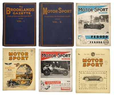 Lot 60 - Motor Sport. A near-unbroken run, 1924-90