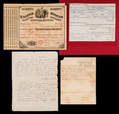 Lot 3 - American Civil War; Virginia. Group of documents, 19th century