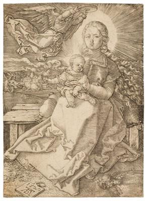 Lot 388-Durer (Albrecht, 1471-1528). The Virgin Crowned by an Angel