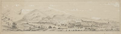 Lot 25-Afghanistan. 'View of Istalif in Koh Daman by C. Masson Esq', pencil-sketch, 1844
