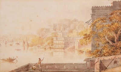 Lot 30 - India. River scene, possibly Varanasi, c.1806, original watercolour