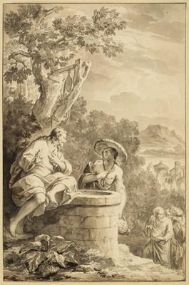 Lot 369-Picart (Bernard, 1673-1733). Jesus with the Samaritan Woman at Jacob's Well