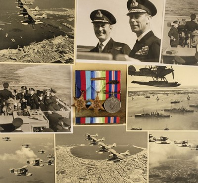 Lot 13 - Chichester (Michael, 1917-2012). Photograph album of naval service, 1935-44, & related material