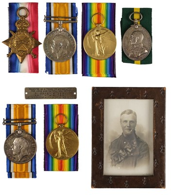 Lot 21-Family Group. WWI medals to Pioneer Keey RE and Sergeant Keey RASC