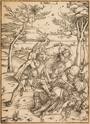 Lot 385-Durer (Albrecht, 1471-1528). Hercules conquering the Molionide Twins, circa 1496
