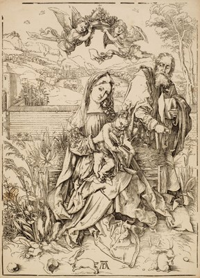 Lot 387-Durer (Albrecht, 1471-1528). The Holy Family with Three Hares, circa 1498
