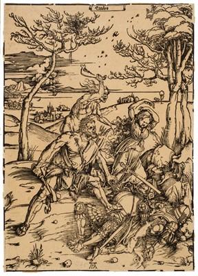 Lot 386-Durer (Albrecht, 1471-1528). Hercules conquering the Molionide Twins, circa 1496