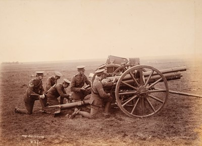 Lot 28 - Honourable Artillery Company. Photograph album of the HAC at Fargo Camp, 1912