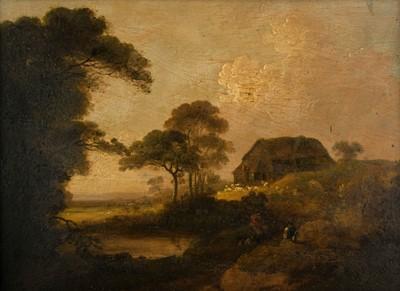 Lot 348-Rathbone (John, 1750-1807, & George Morland 1763-1804). Landscape