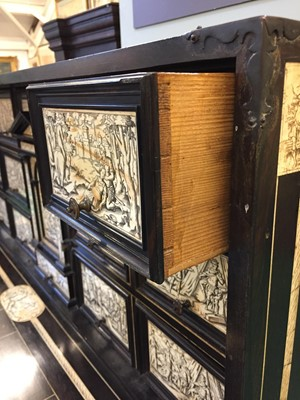 Lot 333-Cabinet. A fine early 19th century Italian cabinet on stand