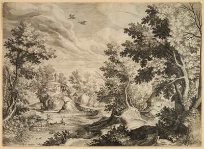 Lot 396-Paul Bril (c.1553/54-1626). Five landscapes, early 17th century