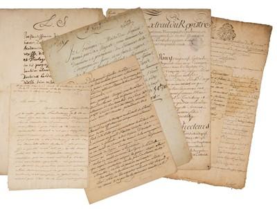 Lot 16 - Compagnie des Indes. Group of manuscript documents, 18th century