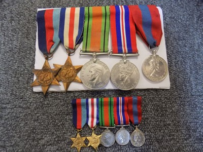Lot 36-WWII. A group of five medals