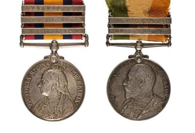 Lot 18 - Boer War. QSA & KSA - Sergeant J. King Gloucestershire Regiment