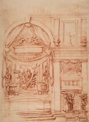 Lot 363-Franceschini (Baldassare, Il Volterrano, 1611-1689). Design for a Side Chapel