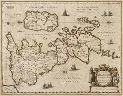 Lot 10-British Isles. Jansson (Jan & Ortelius Abraham), Insularum Britannicarum..., circa 1646